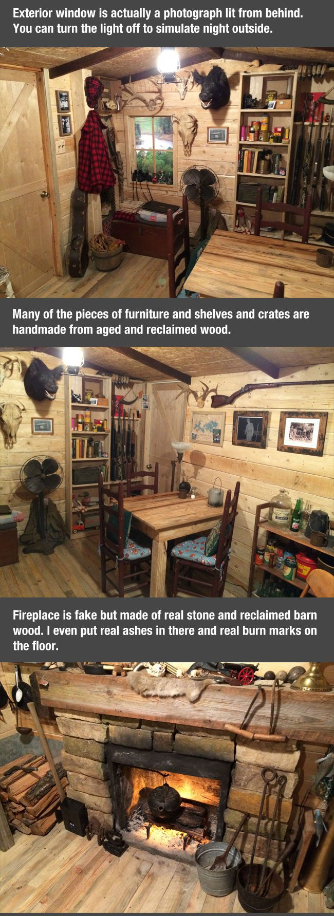 Man Cave Articles : Cool finished man cave wood cabin newslinq