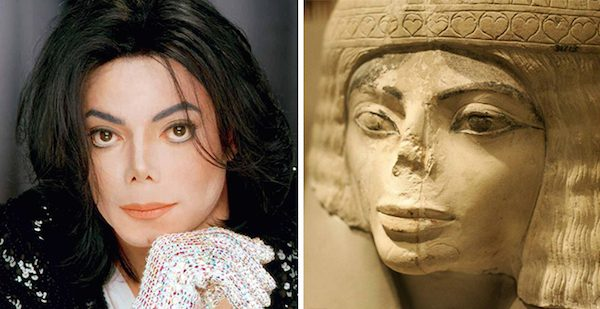 Michael Jackson and this Egyptian statue