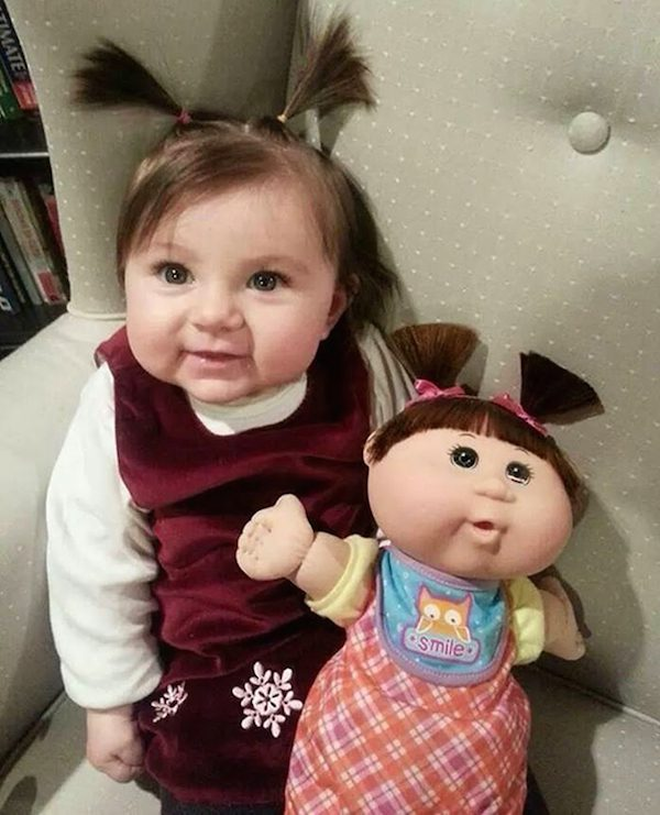 This girl and this doll