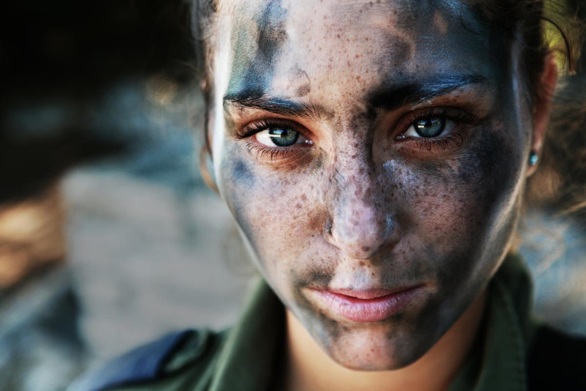 An 18-year-old IDF soldier.