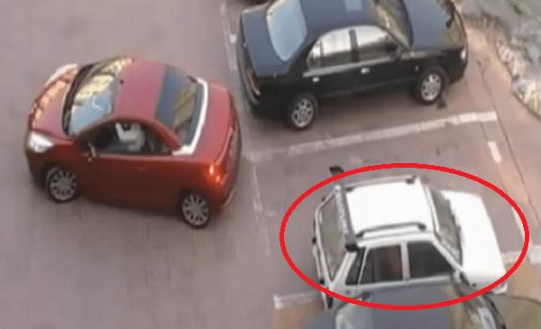 stealing parking spot