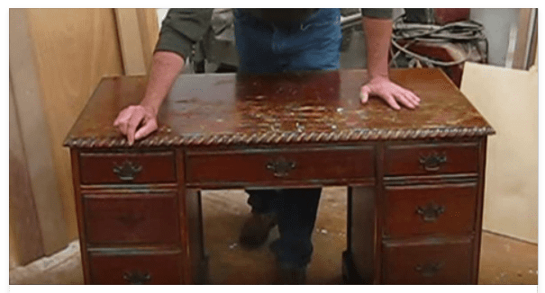 See This Old Beat Up Desk Transform Into A Beautiful Shiny