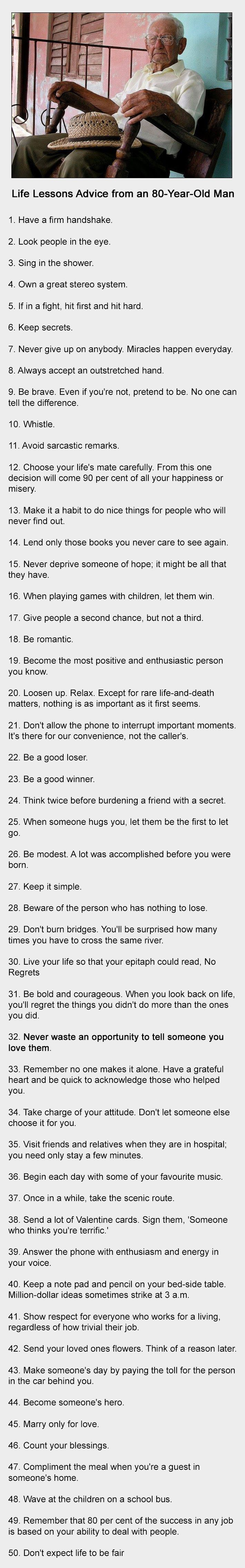 80 Year Old Man Gives Some Life Lessons Everyone Should Read