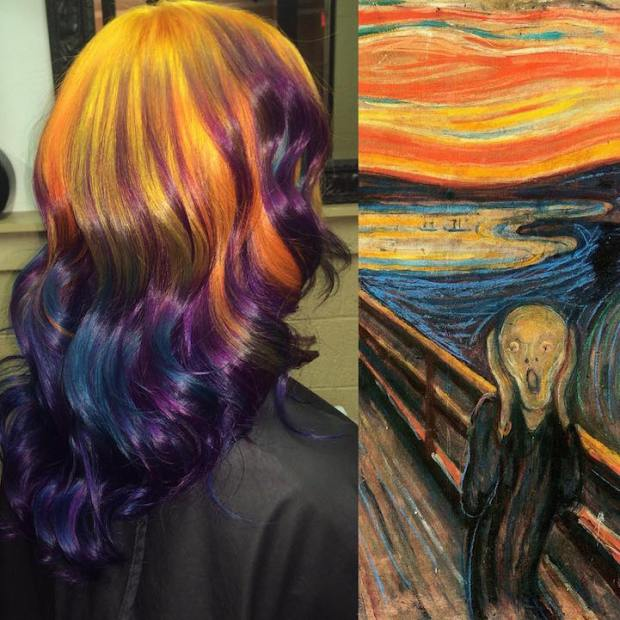 Hair Colors Inspired By Famous Artworks 2