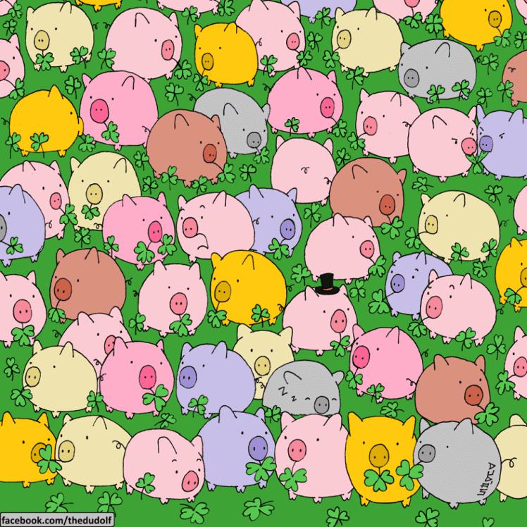 find four-leaf clover game 1