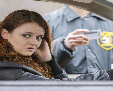 woman pulled over