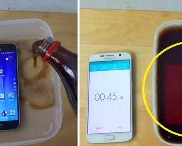 Phone in coca cola