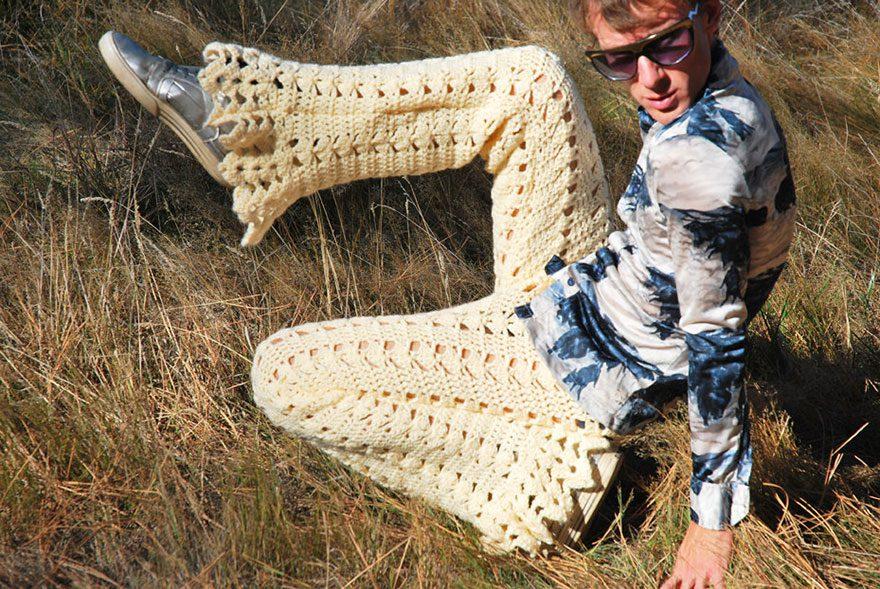 crocheted vintage shorts for men 5