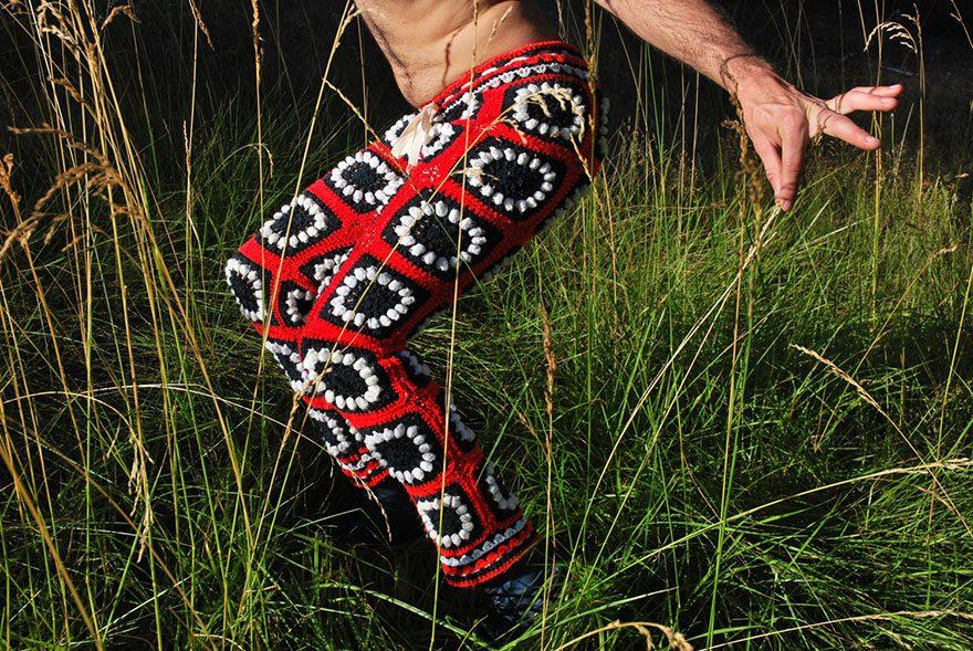 crocheted vintage shorts for men 7