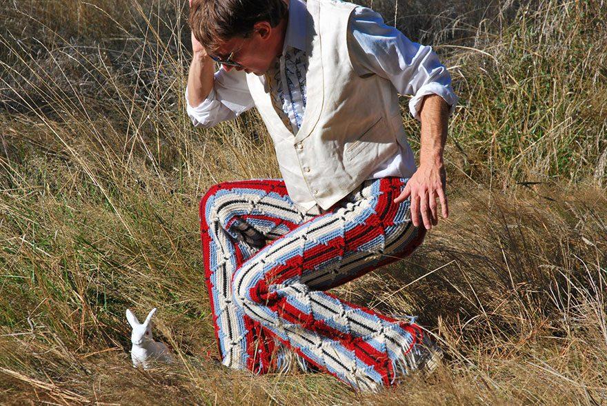 crocheted vintage shorts for men 8