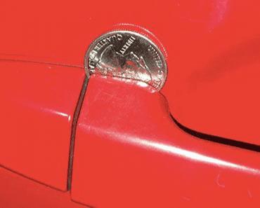 coin in door handle