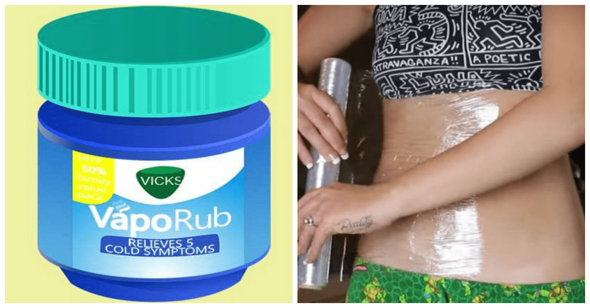 Lose Water Weight With Vicks VapoRub And This Wrapping Technique
