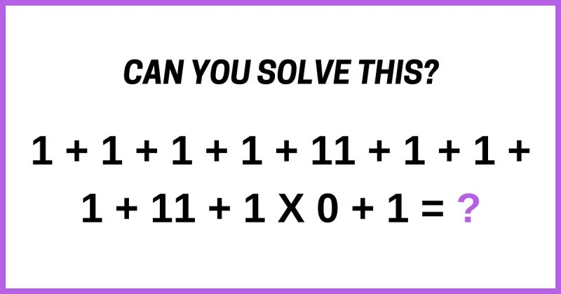 Play This Latest Brain Teaser That Nobody Seems To Be Able To Solve