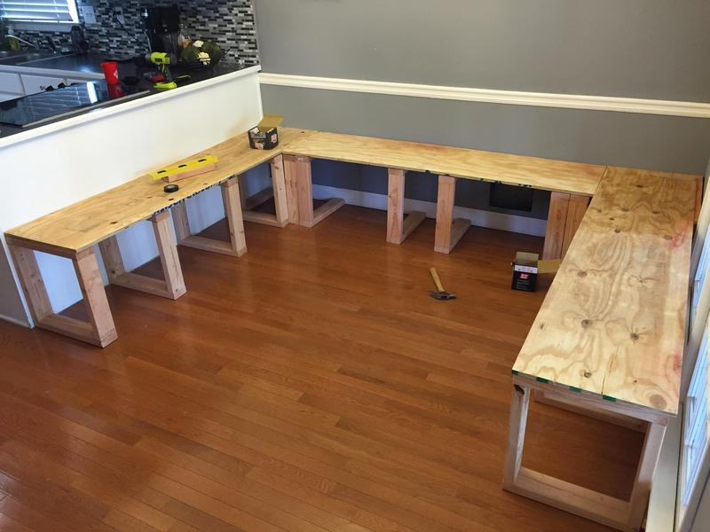 Dad Throws Old Dining Table And Builds This Stunning New One