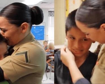 marine gets surprise