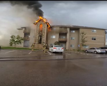 apartment fire video