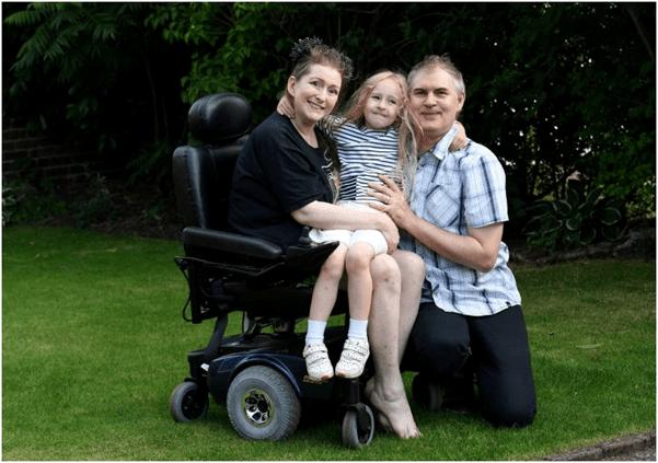 woman paralyzed